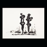 "SOREL ETROG ""TWO CALLIGRAPHIC FIGURES"" 1969/1996"