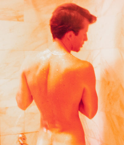 "DAVID HOCKNEY ""PETER SHOWERING"" PHOTO, 1976"