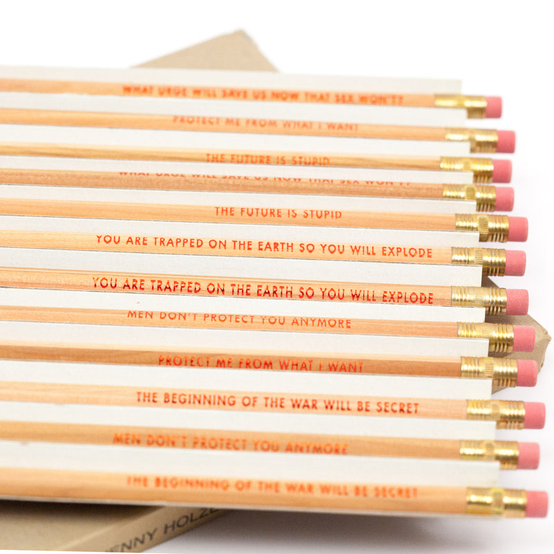 "JENNY HOLZER ""SURVIVAL"" PENCILS, 1991"