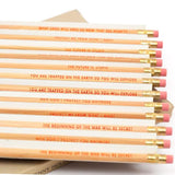 "JENNY HOLZER ""SURVIVAL SERIES"" PENCILS, 1991"