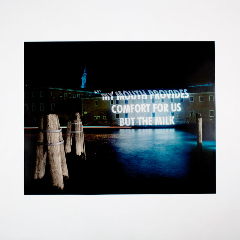 Jenny Holzer photograph projection Caviar20