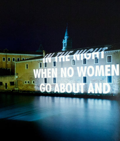"JENNY HOLZER ""IN THE NIGHT"" PHOTO, 1999"