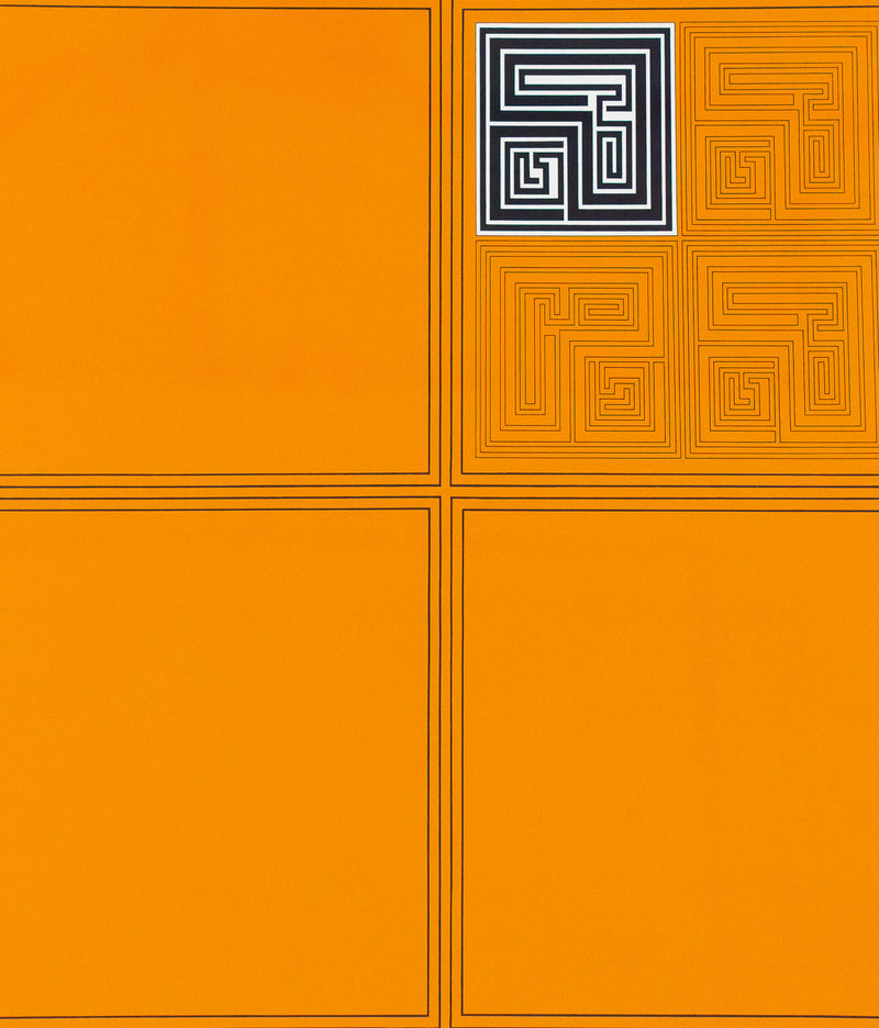 Gordon House Caviar20 screenprint Orange Matrices