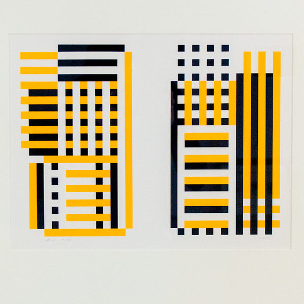 Josef Albers, Caviar20, Bowers, Glass Painting, Screenprint