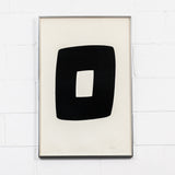 "ELLSWORTH KELLY ""BLACK WITH WHITE A.9"" LITHO, 1964"