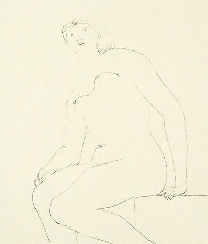 "HENRY MOORE ""SEATED NUDE"" ETCHING, 1979"