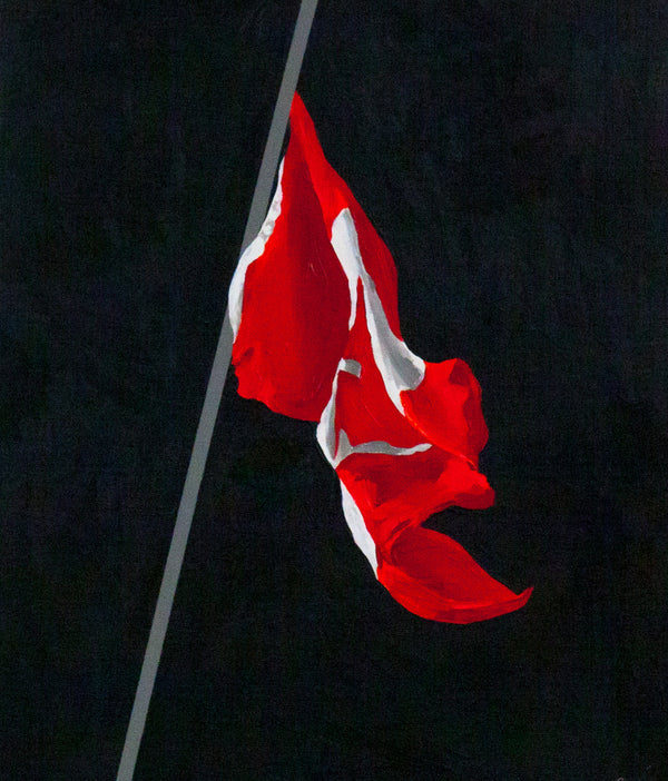 Charles Pachter, Flag painting, Canadian flag, Caviar20, art