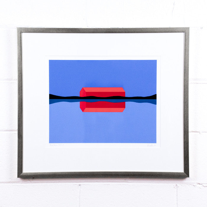 "CHARLES PACHTER ""RED BARN REFLECTED"" SERIGRAPH, 1999"
