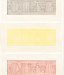 "SOL LEWITT ""FOUR PART COMBINATIONS"" WOODCUTS, 1980"