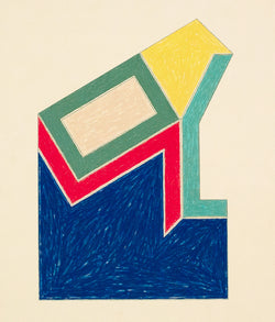 "FRANK STELLA ""MOULTONVILLE"" SCREENPRINT, 1974"