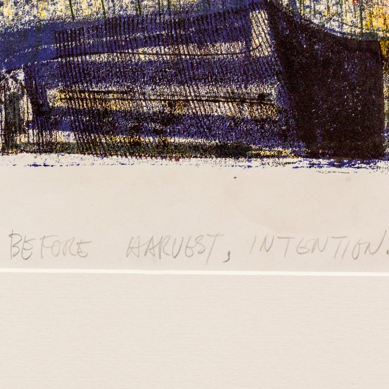 "HAROLD TOWN ""BEFORE HARVEST"" SINGLE AUTOGRAPHIC PRINT"