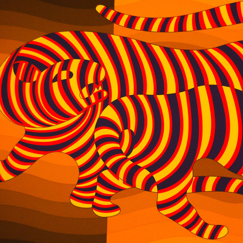 "VASARELY ""TWO TIGERS YELLOW"""