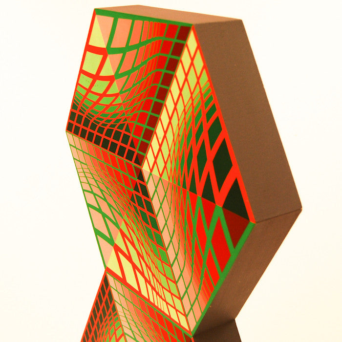 "VASARELY ""AXO-AB"" SCULPTURE, 1988"