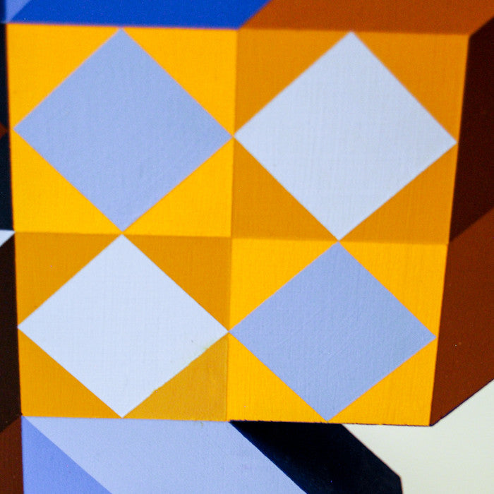 Caviar20, Vasarely, Ter-A-2 (Blue Gold), Totem Sculpture, 1969