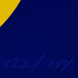"JACK YOUNGERMAN ""BLUE/YELLOW"" LITHO, 1968"