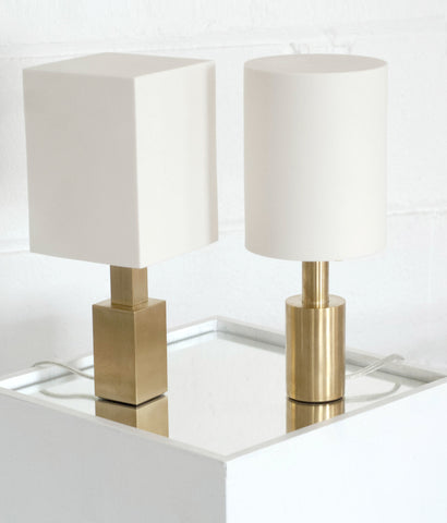 "ALISSA COE ""PORCELAIN + BRASS TABLE LAMPS"" 2013"