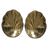 "PAIR OF LARGE ""SCALLOPED"" POCKET SCONCES"