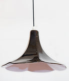 "HIGH-GLOSS BLACK CERAMIC ""WAVY"" PENDANT LIGHT"