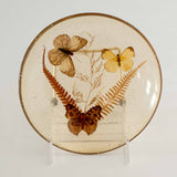 SET OF 4 GOLDEN LUCITE BUTTERFLY PLATES