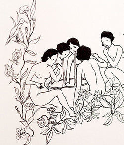 "MARCEL DZAMA ""COVEN OF ROSES"" LITHOGRAPH, 2005"