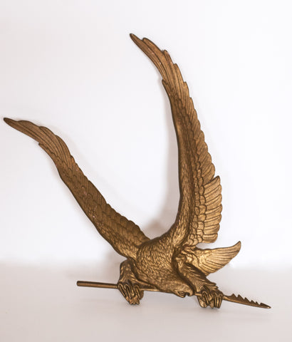 LARGE BRASS PORTILLO EAGLE WALL AMULET