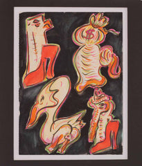"GENERAL IDEA ""CURIOUS ICONS"" WATERCOLOR, 1990"