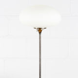 "LAUREL ""MUSHROOM"" CHROME FLOOR LAMP"