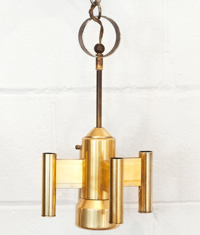 SPACE CROSS BRASS PENDANT LIGHT