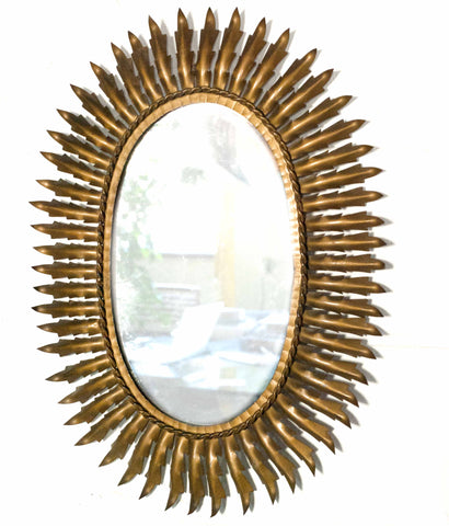 "MID-CENTURY ""SPANISH SPIKE"" MIRROR"