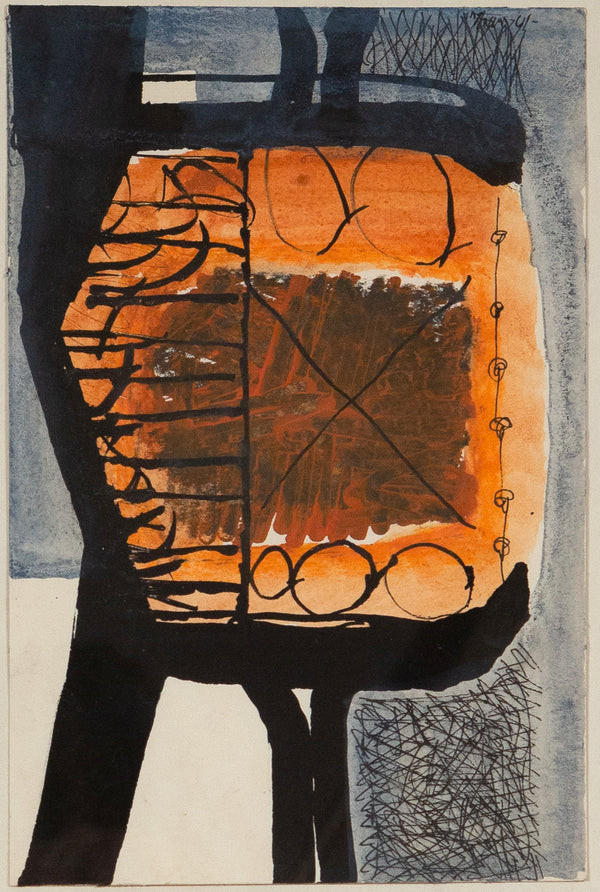 Harold Town, Orange Zone, Drawing, 1961, painting Caviar20