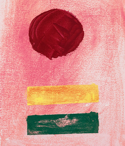 "ADOLPH GOTTLIEB ""PINK GROUND"" SCREENPRINT, 1972"