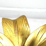 "ARTHUR COURT ""GOLD LILY"" SCULPTURE TABLE"