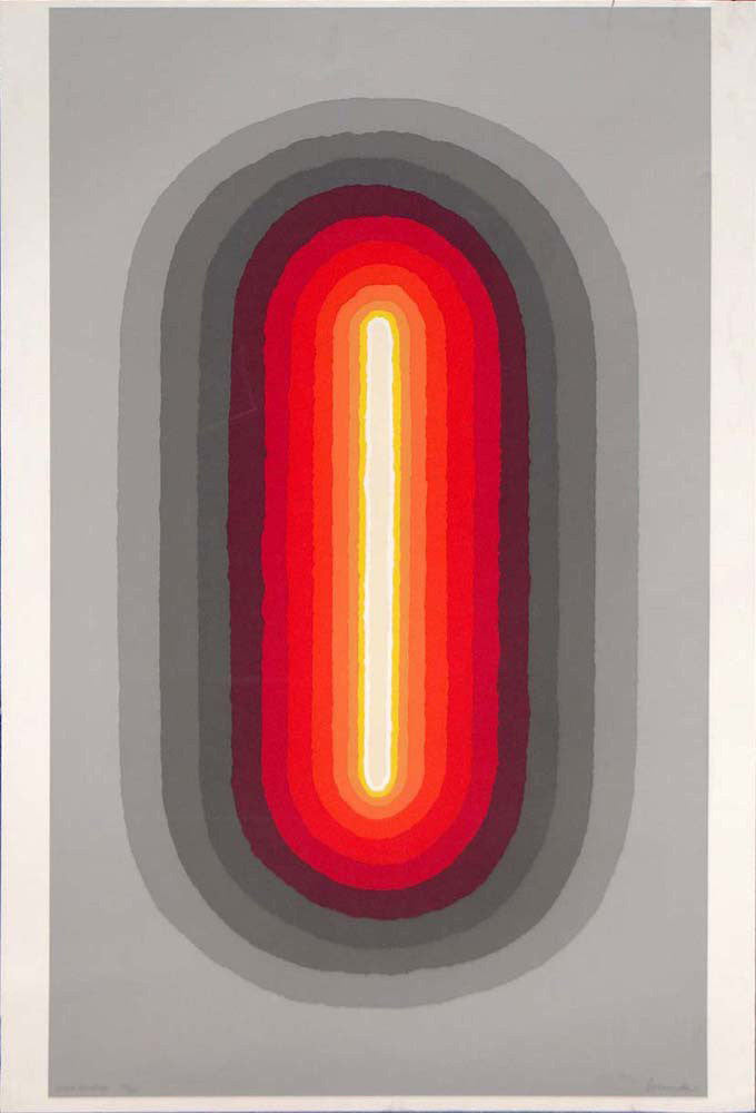 "ARTHUR SECUNDA ""COSMIC RADIATION"" SERIGRAPH, 1970"