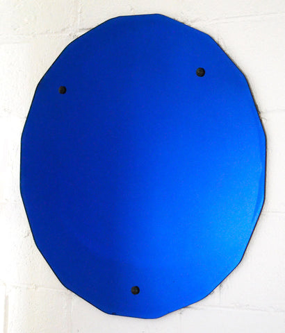 """BLUE YVES"" LARGE ART DECO MIRROR"