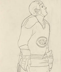 "CHARLES PACHTER ""HOCKEY KNIGHTS IN CANADA"" HABS DRAWING, 1984"