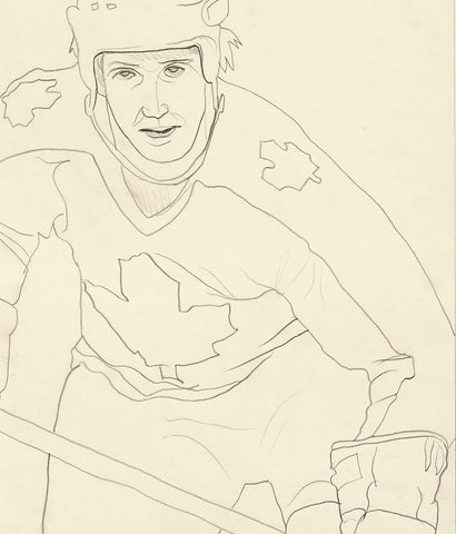 "CHARLES PACHTER ""HOCKEY KNIGHTS IN CANADA"" DRAWING, 1984"