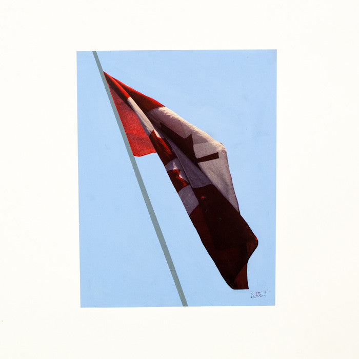 "CHARLES PACHTER ""PAINTED FLAG: PREPARATORY #2"""