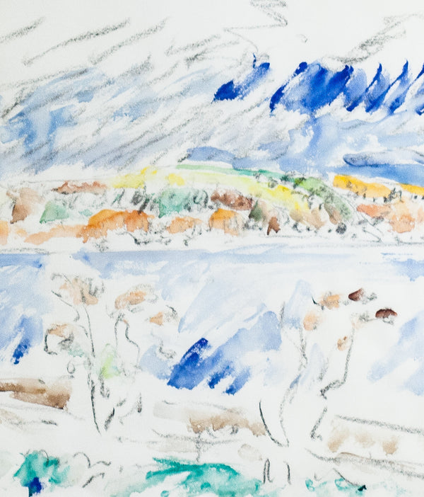 "DOROTHY KNOWLES ""THE SHORE"" WATERCOLOR, 1978"