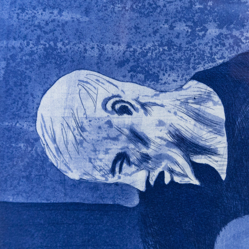 "DAVID HOCKNEY ""BLUE GUITARIST"" ETCHING, 1976"