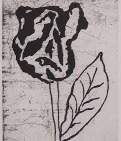 "DONALD BAECHLER ""FLOWERS"" ETCHING, 2007"