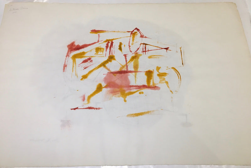 "DOROTHY DEHNER ""UNTITLED"" DOUBLE WATERCOLOR, 1954"