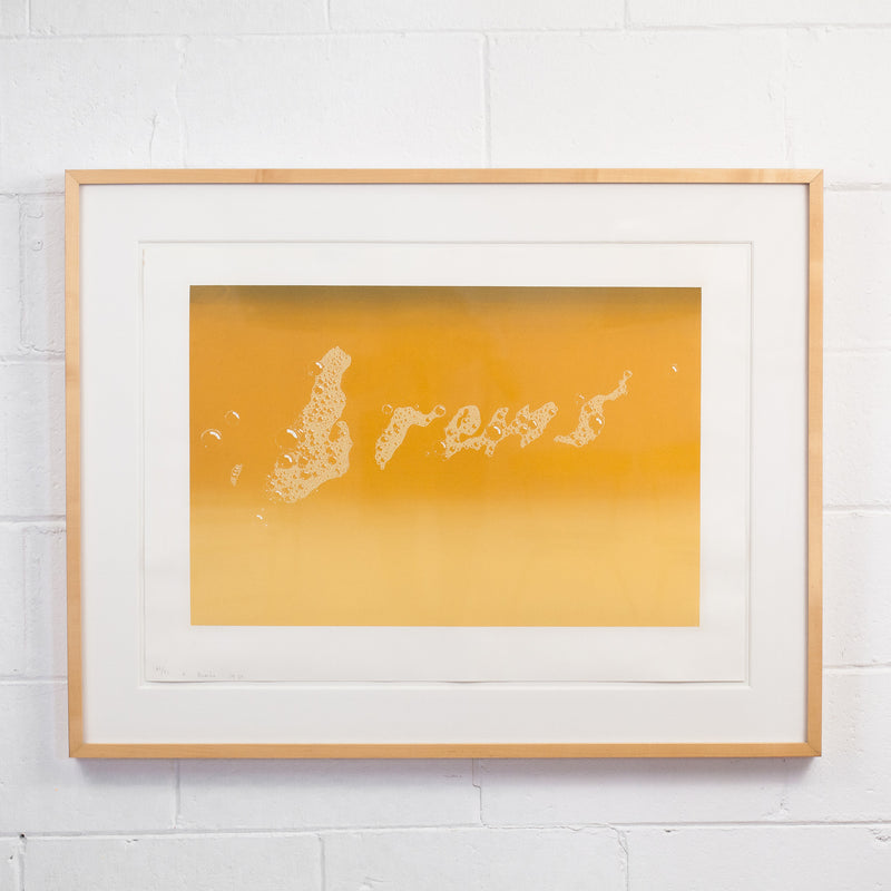 "ED RUSCHA ""BREWS"" SCREENPRINT, 1970"