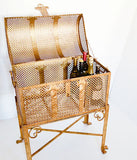 FLORENTINE BRASS TREASURE CHEST BAR