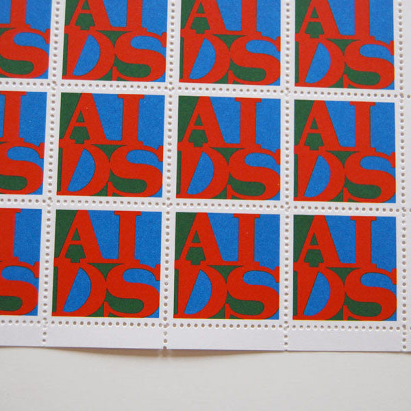 "GENERAL IDEA ""AIDS STAMPS"" 1988, SIGNED"