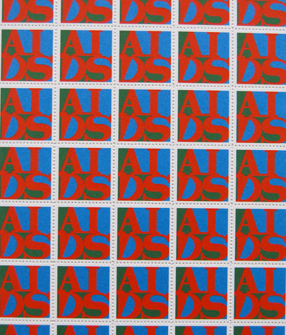 "GENERAL IDEA ""AIDS STAMPS"" 1988, UNFRAMED"