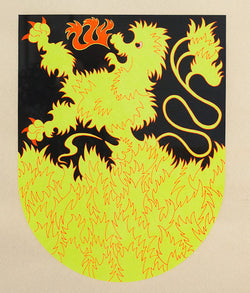 "GENERAL IDEA ""PHOENIX WITH A P"" SILKSCREEN, 1986"