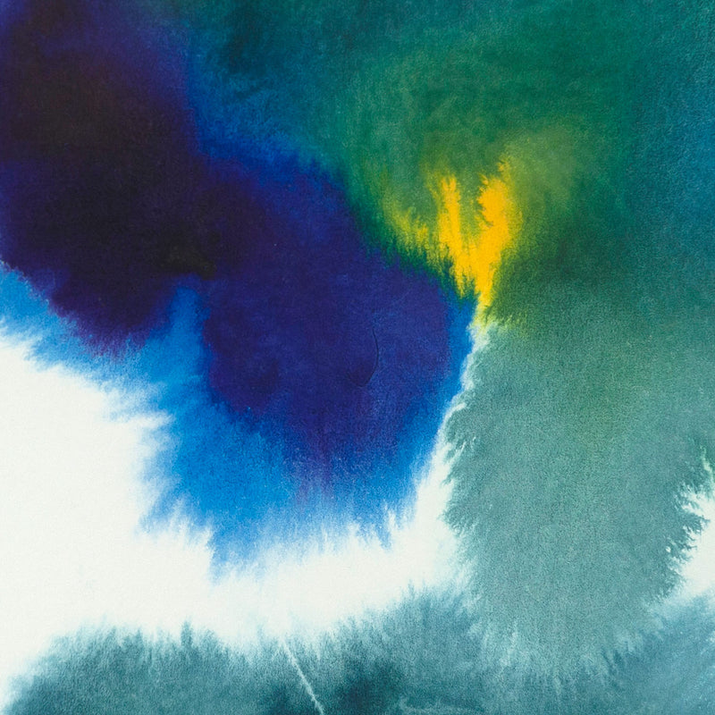"GERSHON ISKOWITZ ""CLUSTER"" WATERCOLOR, 1977"