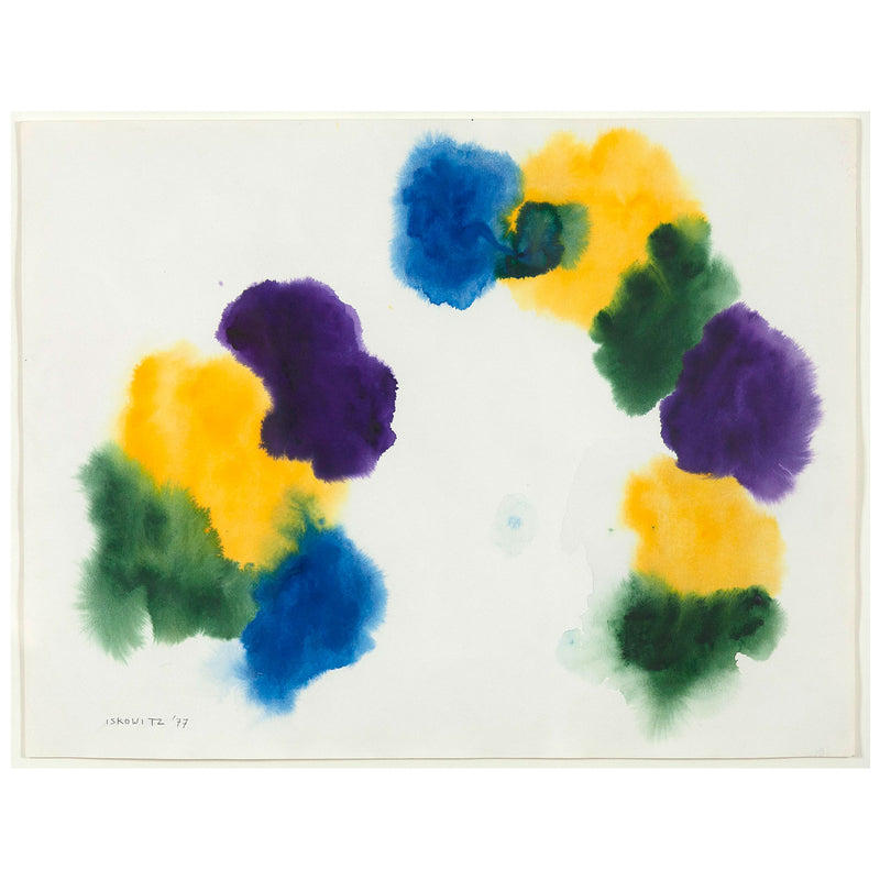 "GERSHON ISKOWITZ ""CRESCENT"", WATERCOLOR 1977"