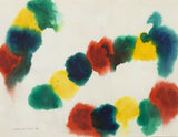 "GERSHON ISKOWITZ ""CATERPILLAR"" WATERCOLOR, 1977"
