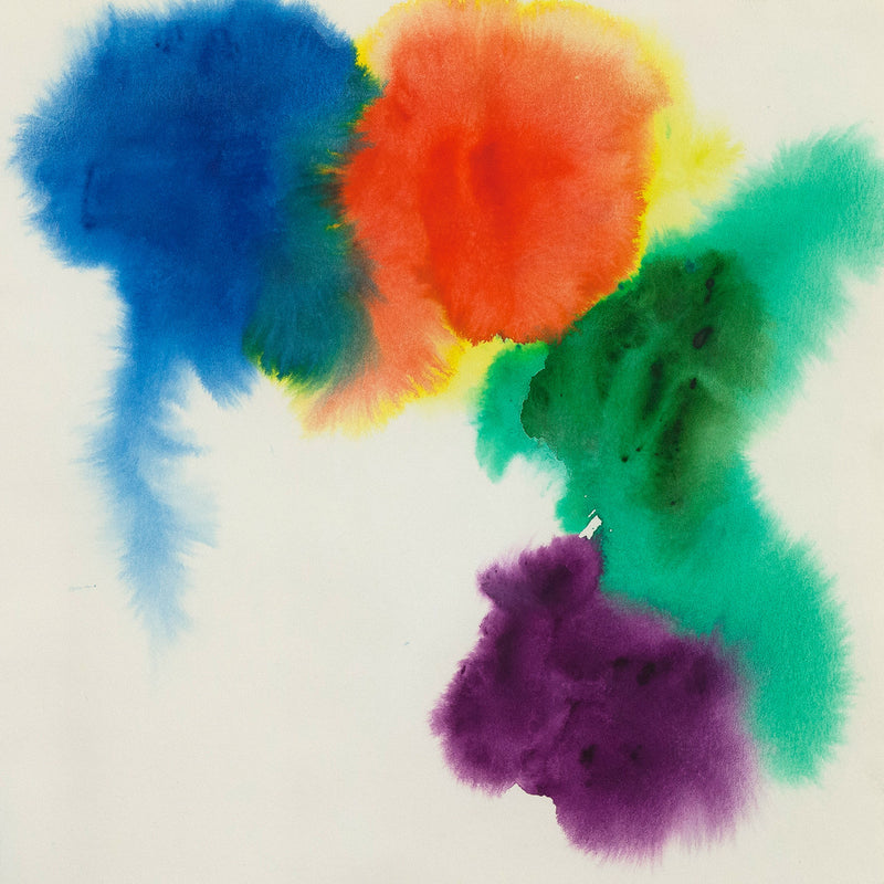 "GERSHON ISKOWITZ ""RAINBOW"" WATERCOLOR, 1977"